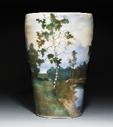 A large porcelain vase