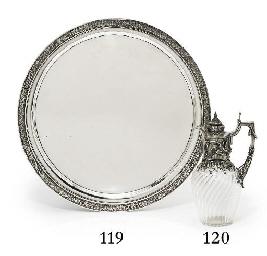 A large silver salver