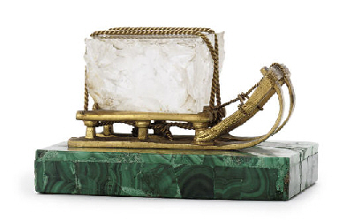 A gilt-bronze, rock-crystal an