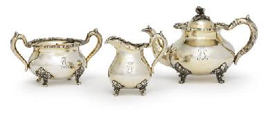 A silver-gilt tea service