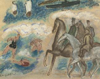 Horseriders on the beach