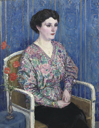 Lady with a flowered blouse