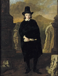 Portrait of a young man, full-