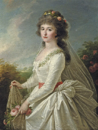 Portrait of a young lady, thre