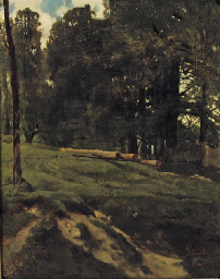 A wooded landscape with cut do