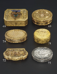 A SWISS GOLD SNUFF-BOX WITH SE