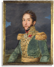 A French general, in green uni
