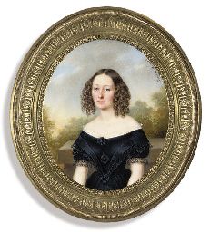 A young lady, in black dress w