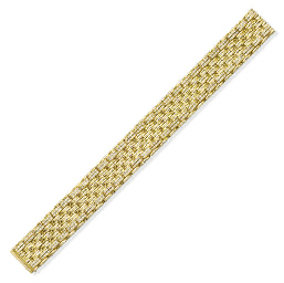 A GOLD AND DIAMOND BRACELET, B