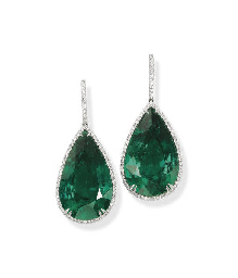 A PAIR OF IMPRESSIVE EMERALD A