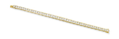 A DIAMOND LINE BRACELET, BY VA