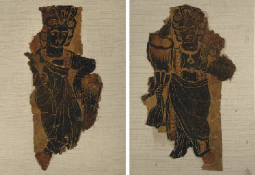 TWO COPTIC TEXTILE FRAGMENTS