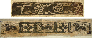 FIVE COPTIC TEXTILE FRAGMENTS