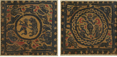 TWO COPTIC TEXTILE PANELS