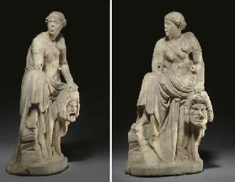 A ROMAN MARBLE MELPOMENE