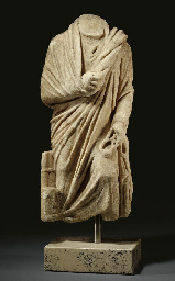A ROMAN MARBLE TOGATUS