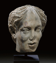 A BYZANTINE MARBLE PORTRAIT OF