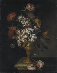 Coppia di vasi di fiori