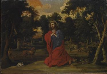 Cristo in preghiera in un paes