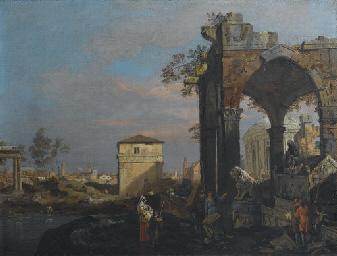 Capriccio di rovine con elemen