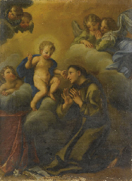 Gesù Bambino appare a Sant'Ant