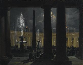 Piazza San Pietro al chiaro di