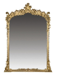 A LARGE MID VICTORIAN GILTWOOD