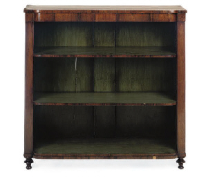 A REGENCY ROSEWOOD OPEN BOOKCA