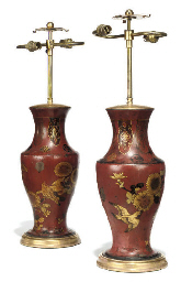A PAIR OF JAPANESE LACQUERED I
