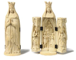 A DIEPPE IVORY TRIPTYCH OF THE