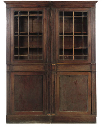 A PAIR OF MAHOGANY BOOKCASES
