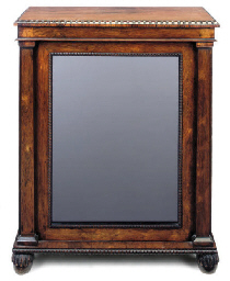 A ROSEWOOD SIDE CABINET