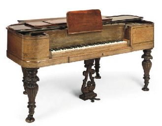 A DANISH ROSEWOOD PIANO