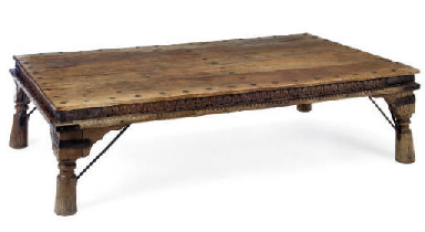 AN INDIAN HARDWOOD LOW TABLE