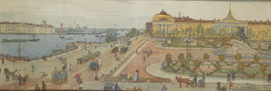 Panorama of St Petersburg with