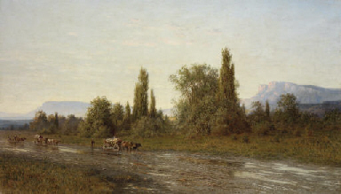 Driving the wagons in a Crimea