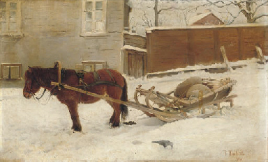A horse and sleigh