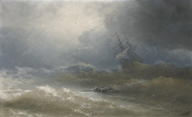 Survivors in a stormy sea