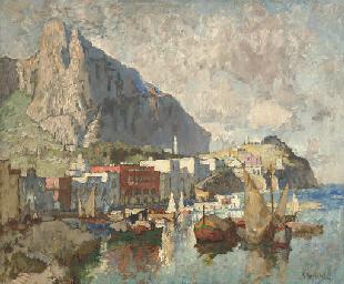 Fishing boats off Capri
