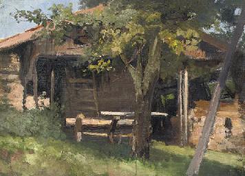 A woodland cabin
