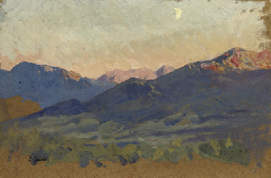 Study for 'Red Mountains'