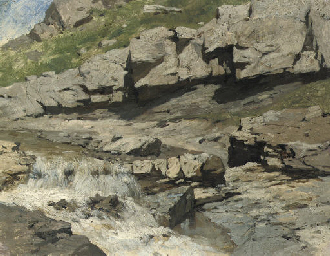 Study of a mountain stream