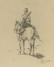A Cossack on horseback