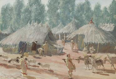 Étude de village Éthiopiens, r