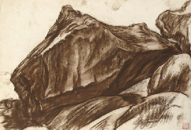 Study of a mountain landscape