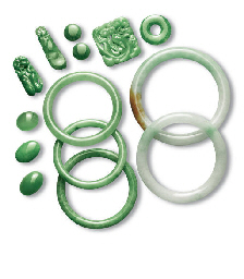 A GROUP OF JADEITE JEWELLERY