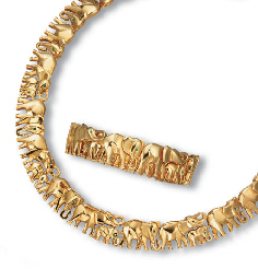 A SUITE OF 18K GOLD AND EMERAL