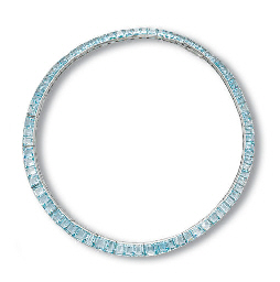 AN AQUAMARINE NECKLACE, BY CAR