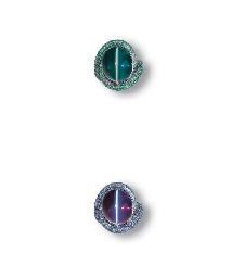 A RARE CAT'S EYE ALEXANDRITE A