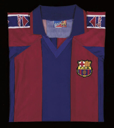 A MAROON AND BLUE BARCELONA SH